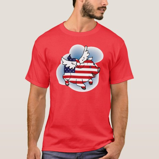 Patriotic Flying Pig(s) - July 4 - 4th of July T-Shirt