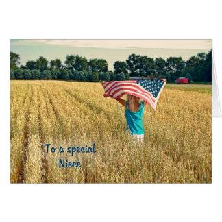 Patriotic for Niece Card