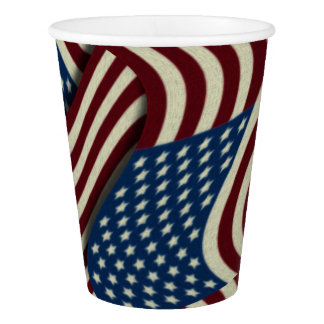 Patriotic Fourth Of July American Flags Pattern Paper Cup