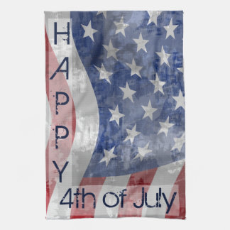 Patriotic Fourth of July Kitchen Towel
