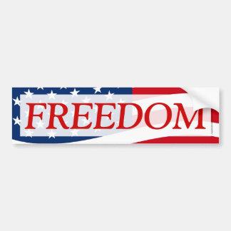 Patriotic Freedom American Flag Decal