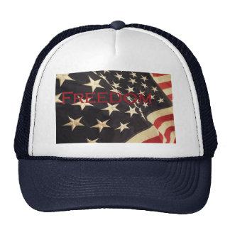 "Patriotic ""Freedom"" Baseball Cap Trucker Hat"