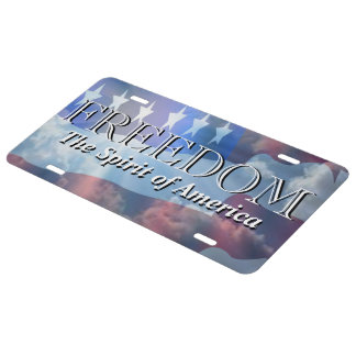 Patriotic Freedom The Spirit of America License Plate
