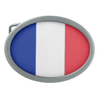 Patriotic French Flag Belt Buckle