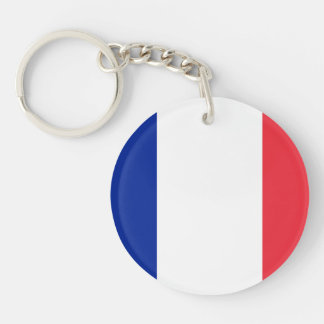Patriotic French Flag Keychain
