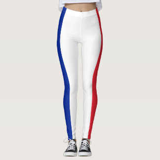 Patriotic French Flag Leggings