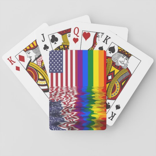 Patriotic Gay Pride Playing Cards