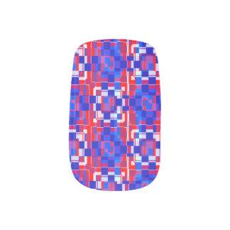 Patriotic Geometry Nails Stickers