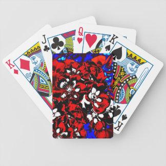 Patriotic Geraniums Bicycle Playing Cards