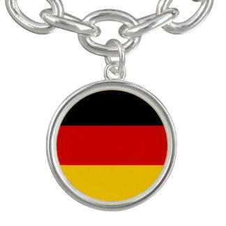 Patriotic German Flag Charm Bracelet