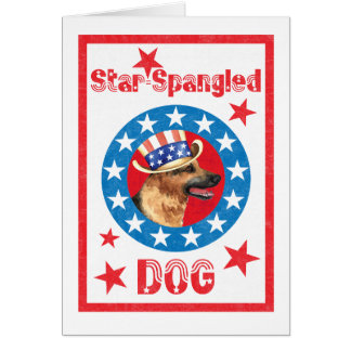 Patriotic German Shepherd Card