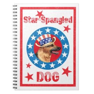 Patriotic German Shepherd Notebook