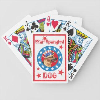 Patriotic German Shepherd Poker Deck