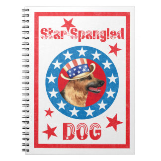 Patriotic German Shepherd Spiral Notebook