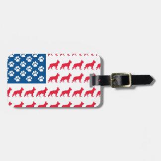 Patriotic German Shepherds Bag Tags