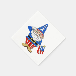 Patriotic Gnome Disposable Napkins