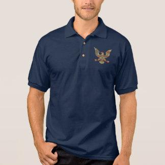 Patriotic God Bless America Eagle American Flag Polo Shirt