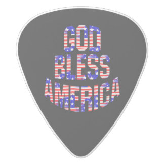 Patriotic God Bless America Guitar Pick