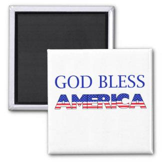 Patriotic God Bless America Magnet