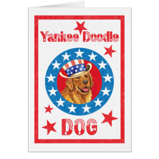 Patriotic Golden Retriever Card