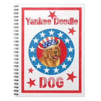 Patriotic Golden Retriever Notebook