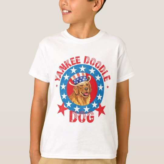 Patriotic Golden Retriever T-Shirt