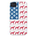 Patriotic Greyhound Dog iPhone 4 Case-Mate Case