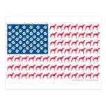 Patriotic Greyhound Dog Postcard