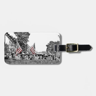 Patriotic Group Women American Flag Circa 1910 Luggage Tag