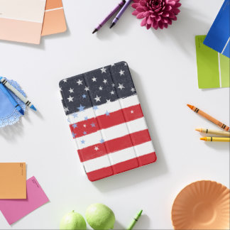 Patriotic Grunge Stars and Stripes iPad Mini Cover