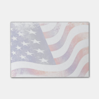 Patriotic Grunge Style Faded American Flag Post-it Notes
