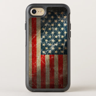 Patriotic Grunge US Flag OtterBox Symmetry iPhone 8/7 Case