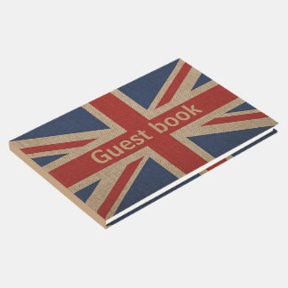 Patriotic Guest book with Britain flag