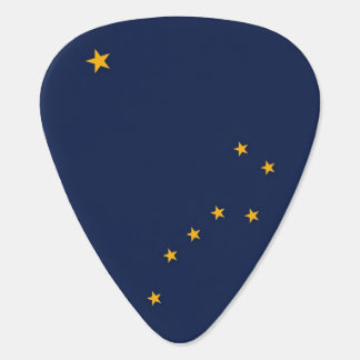 Patriotic guitar pick with Flag of Alaska State