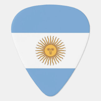 Patriotic guitar pick with Flag of Argentina