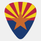 Patriotic guitar pick with Flag of Arizona State