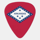 Patriotic guitar pick with Flag of Arkansas State