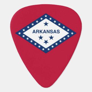 Patriotic guitar pick with Flag of Arkansas State