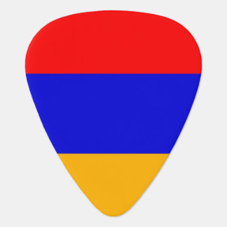 Patriotic guitar pick with Flag of Armenia