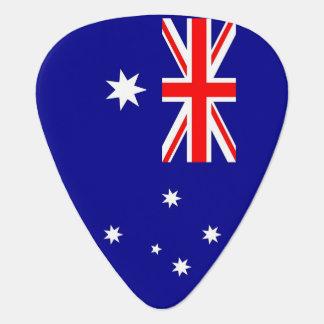 Patriotic guitar pick with Flag of Australia