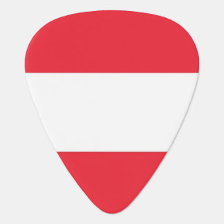 Patriotic guitar pick with Flag of Austria