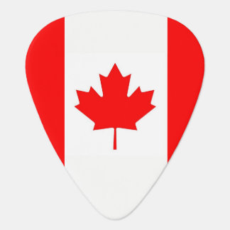 Patriotic guitar pick with Flag of Canada