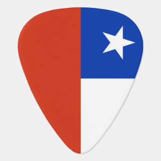 Patriotic guitar pick with Flag of Chile