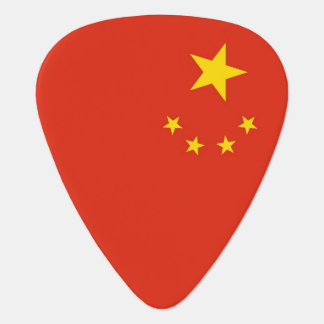 Patriotic guitar pick with Flag of China