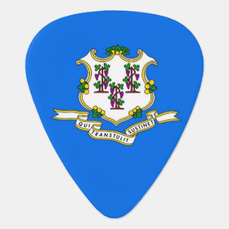 Patriotic guitar pick with Flag of Connecticut