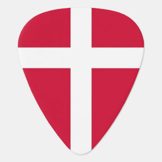 Patriotic guitar pick with Flag of Denmark