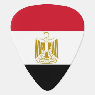 Patriotic guitar pick with Flag of Egypt