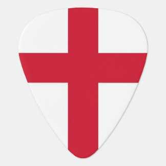 Patriotic guitar pick with Flag of England
