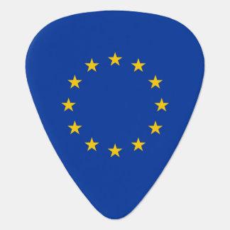 Patriotic guitar pick with Flag of European Union