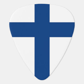 Patriotic guitar pick with Flag of Finland